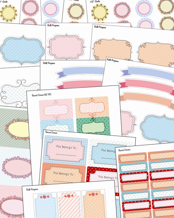 It's just a photo of Eloquent Cute Label Templates