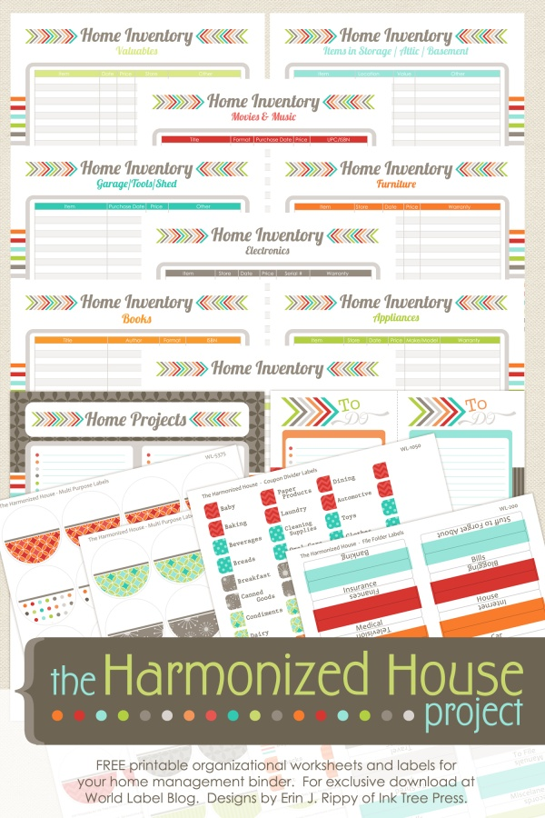 Inventory organizing control the harmonized house project for House project online