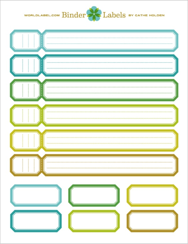 printable binder spine labels