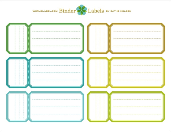 Binder Labels In A Vintage Theme By Cathe Holden | Worldlabel Blog