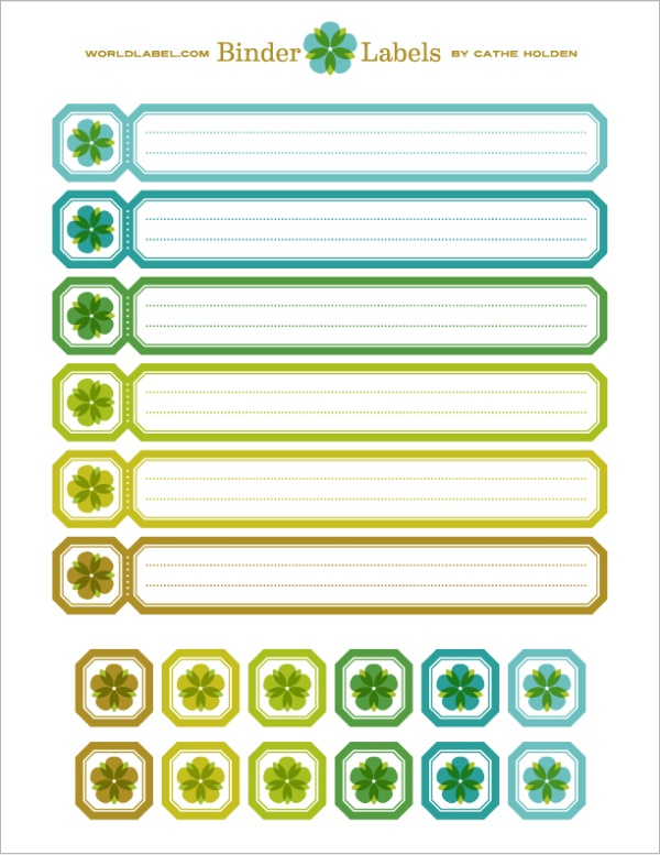binder labels templates
