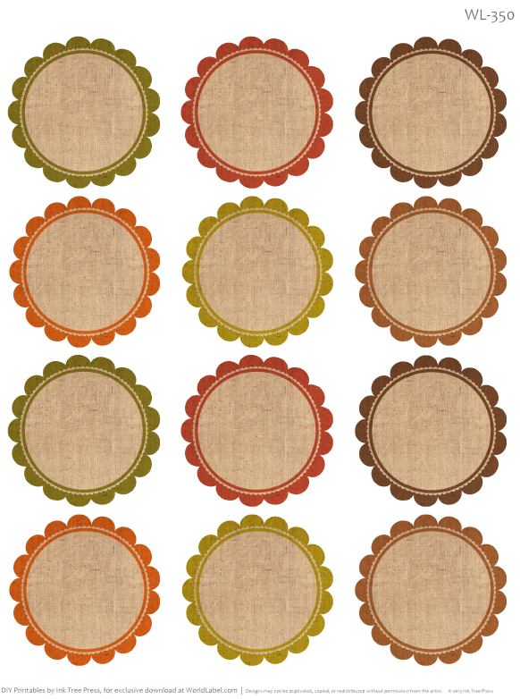Free Labels for Thanksgiving Leftovers & Digital Papers
