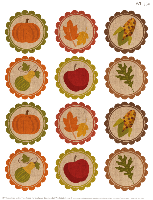 Free Labels for Thanksgiving Leftovers & Digital Papers | Worldlabel ...
