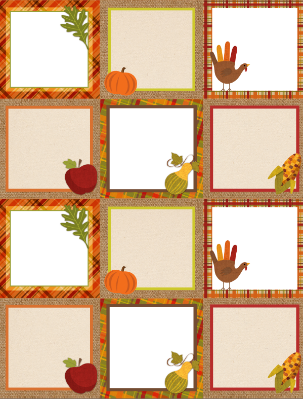 Zany image for printable thanksgiving name cards