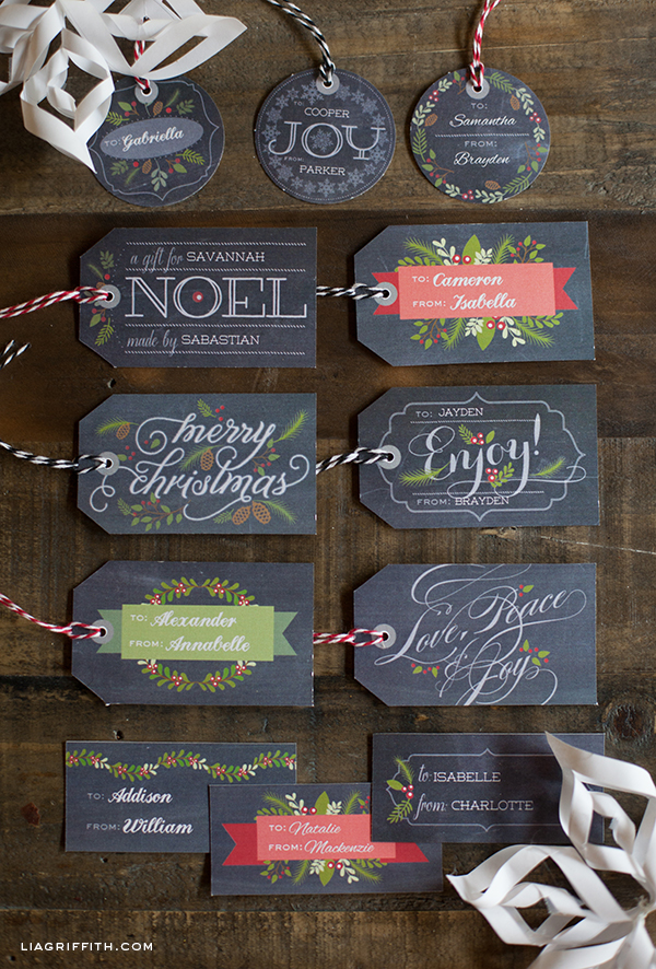 Christmas Gift Tags Pinterest.Free Chalkboard Christmas Gift Labels Tags Free