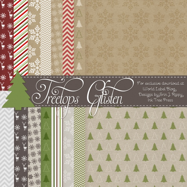 treetop glisten free christmas labels  u0026 digital