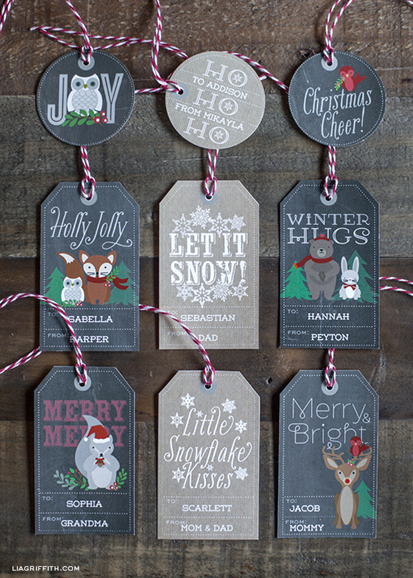 Christmas labels and tags