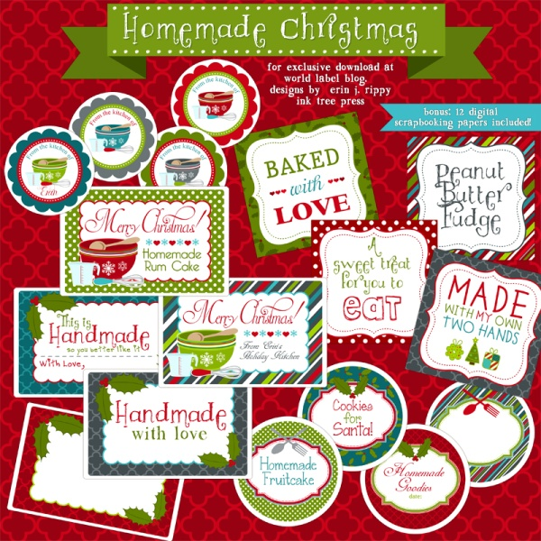 Free Editable Christmas Labels Christmas Labels Template