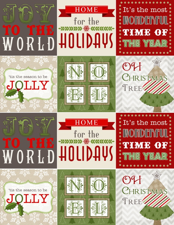 It is an image of Impeccable Free Printable Christmas Stickers
