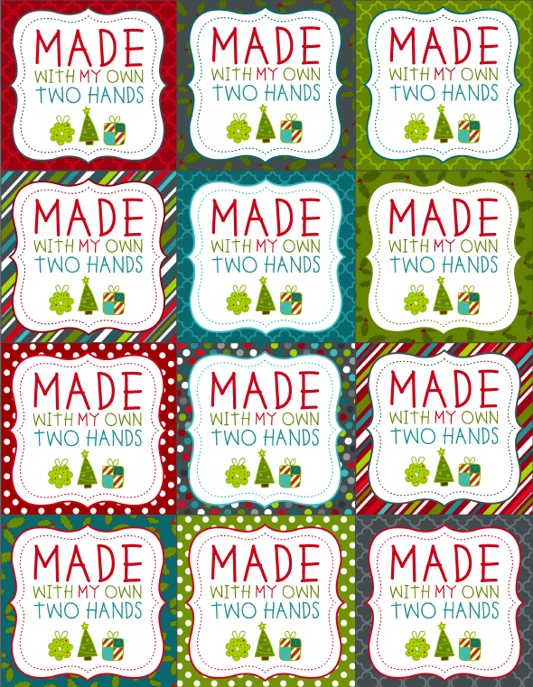 photo relating to Christmas Labels Printable named Printable Xmas Labels for Handmade Baking Free of charge