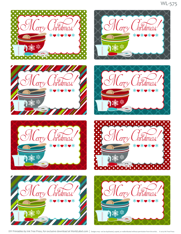 Striking image throughout printable christmas labels