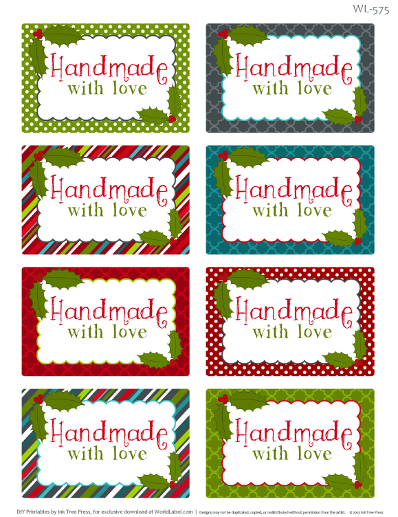 Printable Christmas Labels for Homemade Baking | Worldlabel Blog