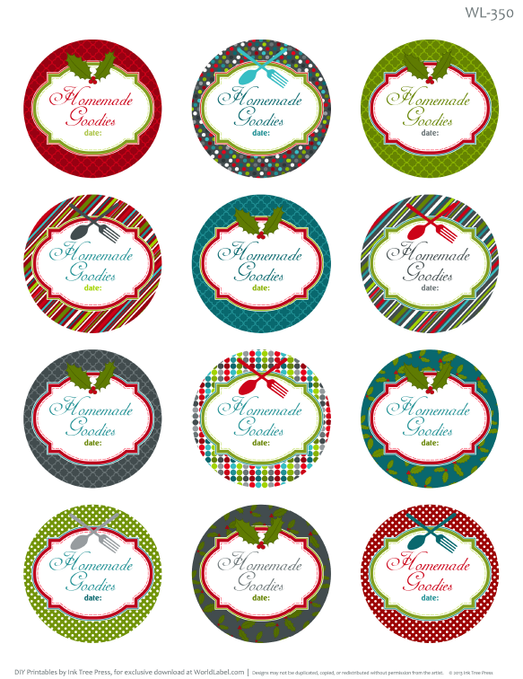 Printable Christmas Labels For Homemade Baking Worldlabel Blog