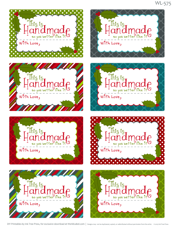 Editable Christmas Labels.Printable Christmas Labels For Homemade Baking Free