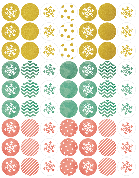 holiday labels in a watercolor  u0026 glitter theme