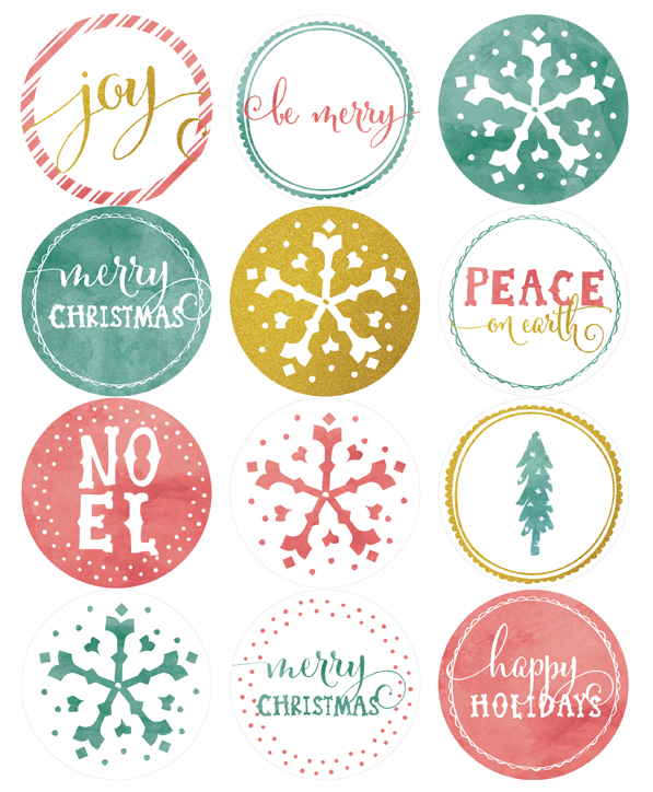 Effortless image pertaining to printable christmas stickers