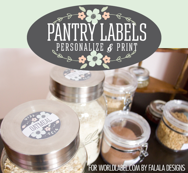 Labels for Organizing your Pantry & Spice Jars