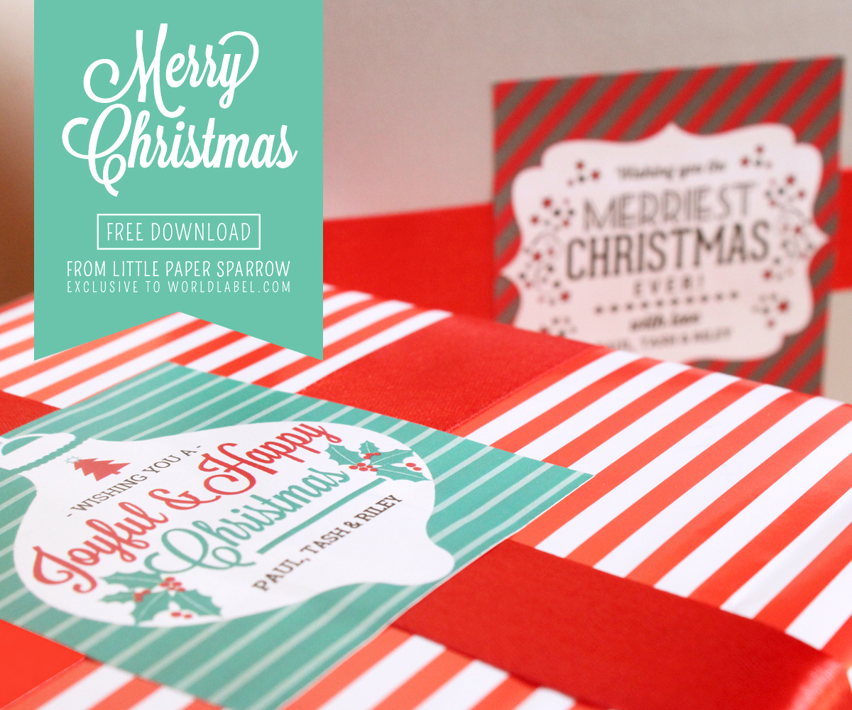 Labels: Christmas Label Templates