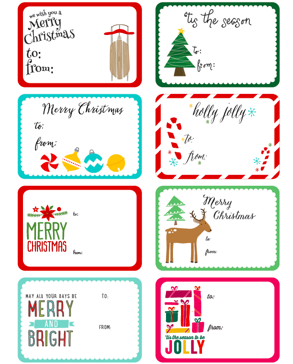 Bewitching image within printable christmas labels