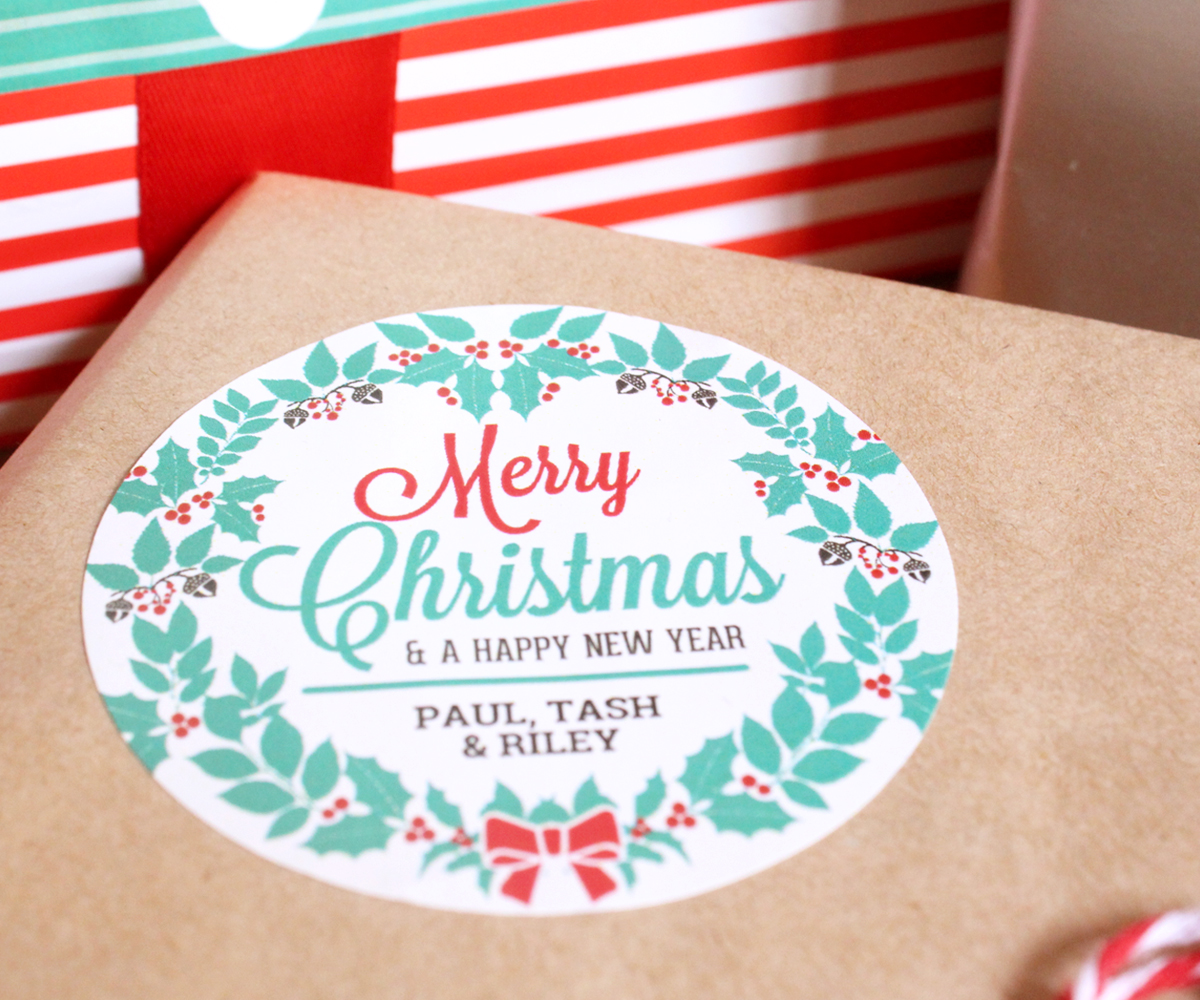 Holiday gift labels