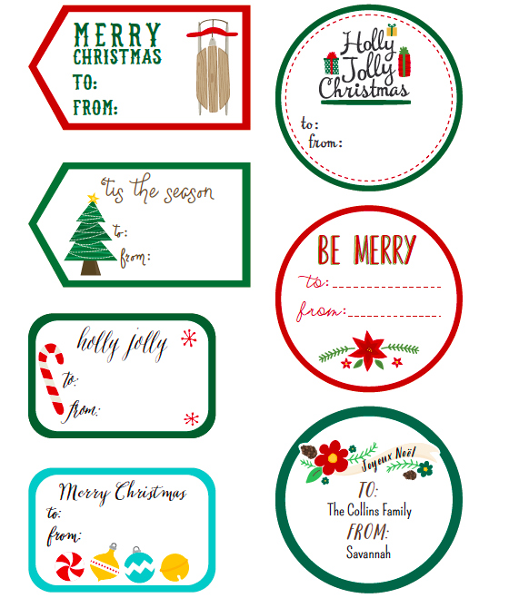 Whimsical Christmas Labels by Angie Sandy | Worldlabel Blog