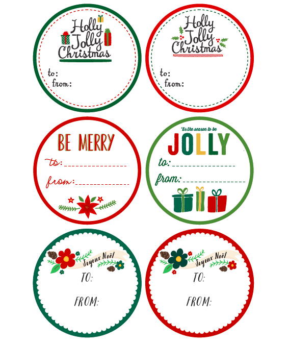 Round Christmas Labels