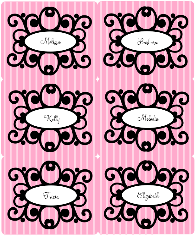 pink diva princess party printable set