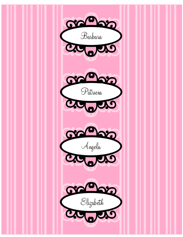 Pink Diva Princess Party Printable Set | Worldlabel Blog