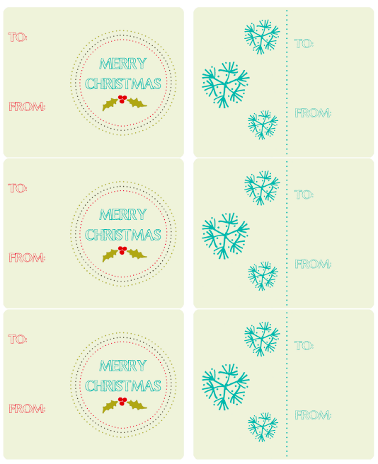 hand drawn holiday labels