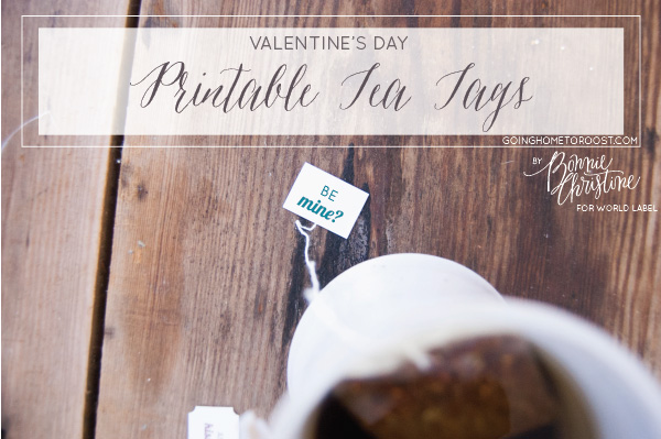Cute DIY Printable Tea Tags for Valentines Worldlabel Blog