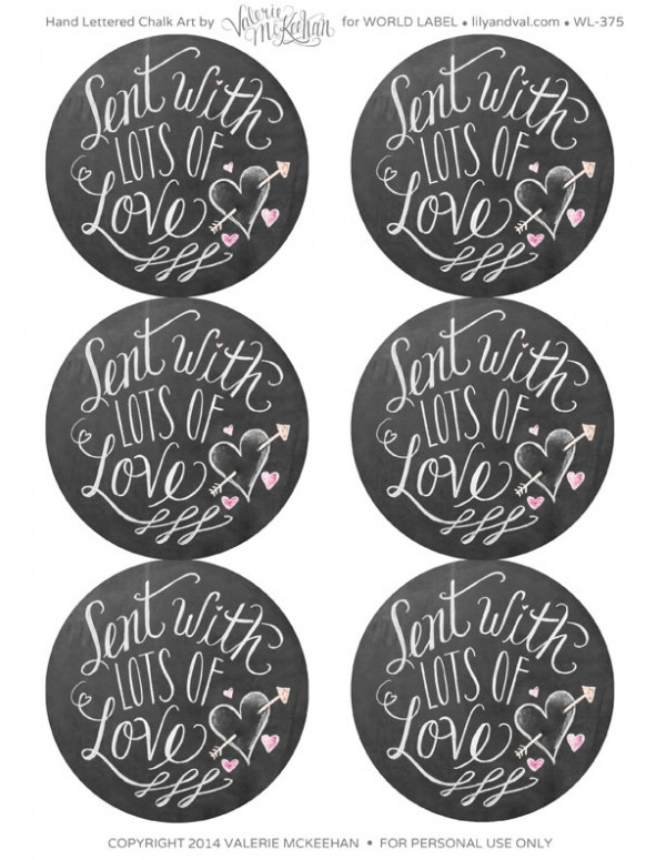 printable valentines day labels