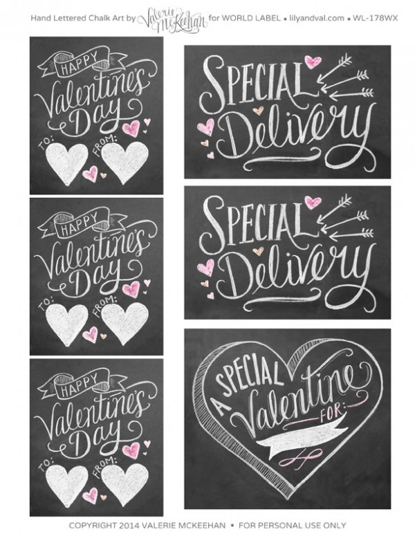 special delivery valentines day labels