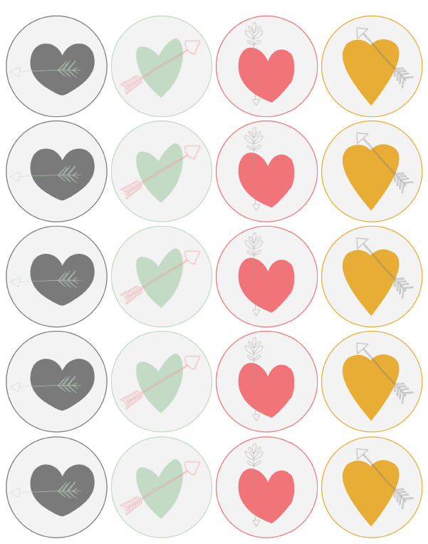 hearts  u0026 arrows valentine labels by catherine auger