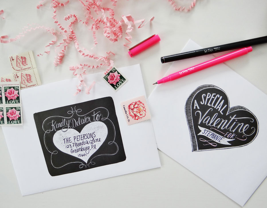 Valentines Day Label Templates