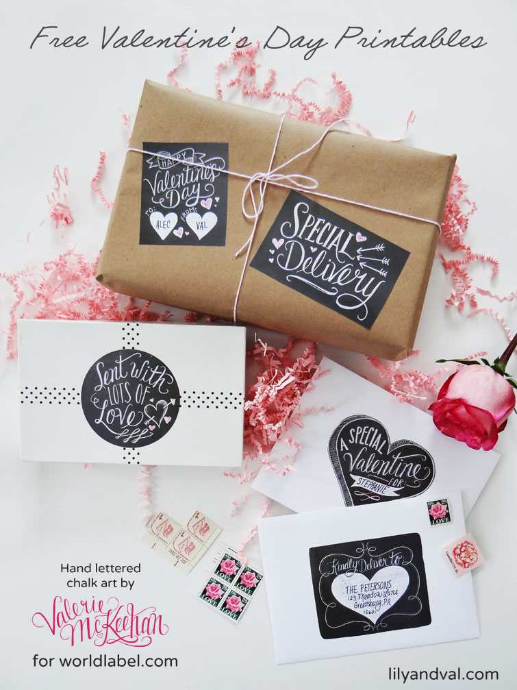 hand lettered chalk art valentine u0026 39 s day labels