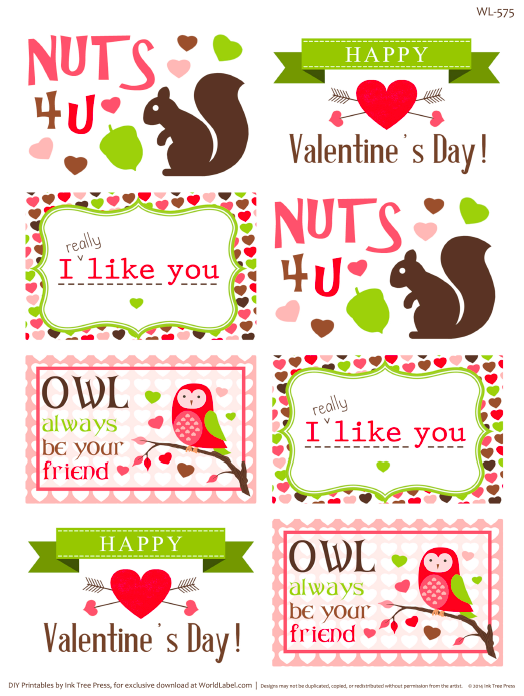 valentines label
