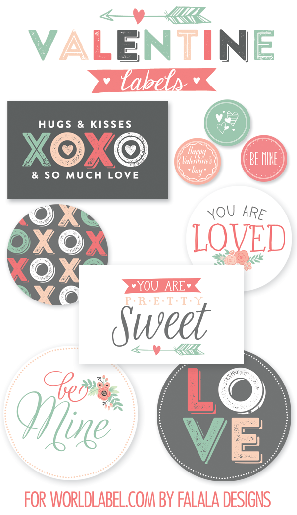 Labels for Valentine Day