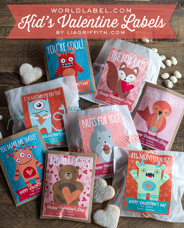 Kids Valentine Labels