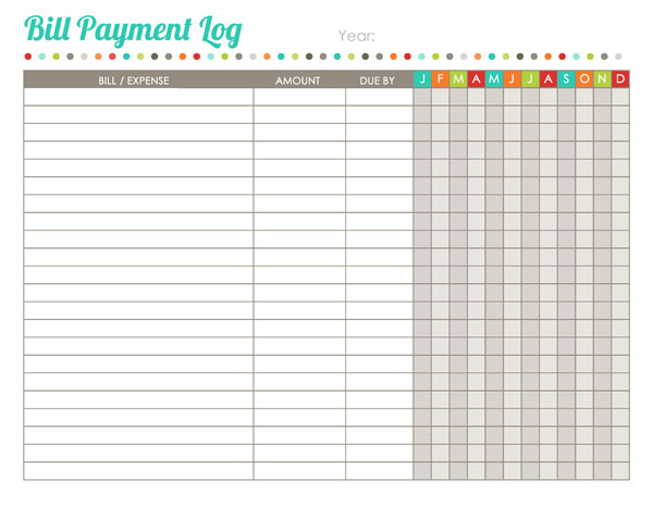 Pin Printable Monthly Bill Organizer Template on Pinterest