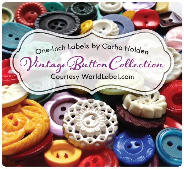Free Vintage Button Label Printables