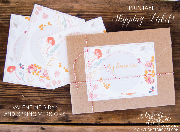 valentines day labels to print