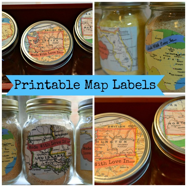 mason jar map labels