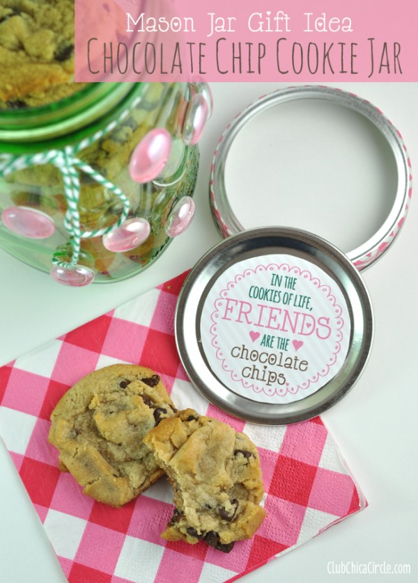 Cookie Jar from decorated vintage green mason jar craft idea