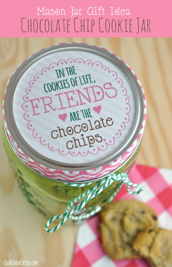 Easy Cookie Jar Gift Idea with Green Vintage Mason Jar