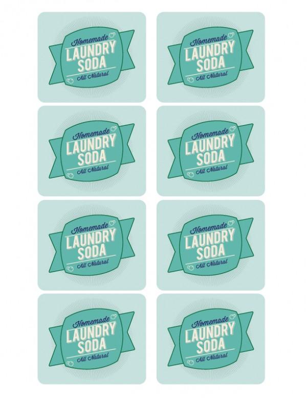 Laundry Soda Label Front
