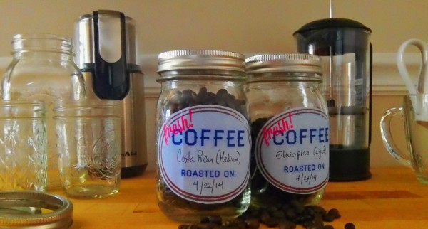 Mason Jar Coffee Lables