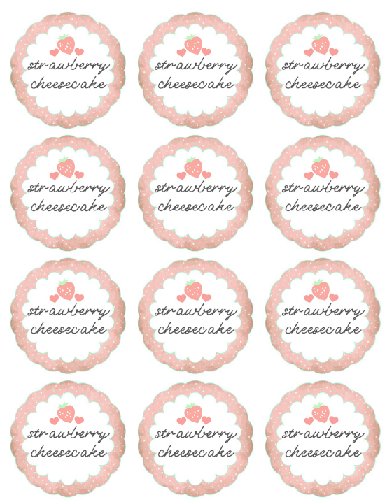 The worldlabel mason jar label design contest worldlabel blog strawberry cheesecake mason jar labels 1 mason labels maxwellsz