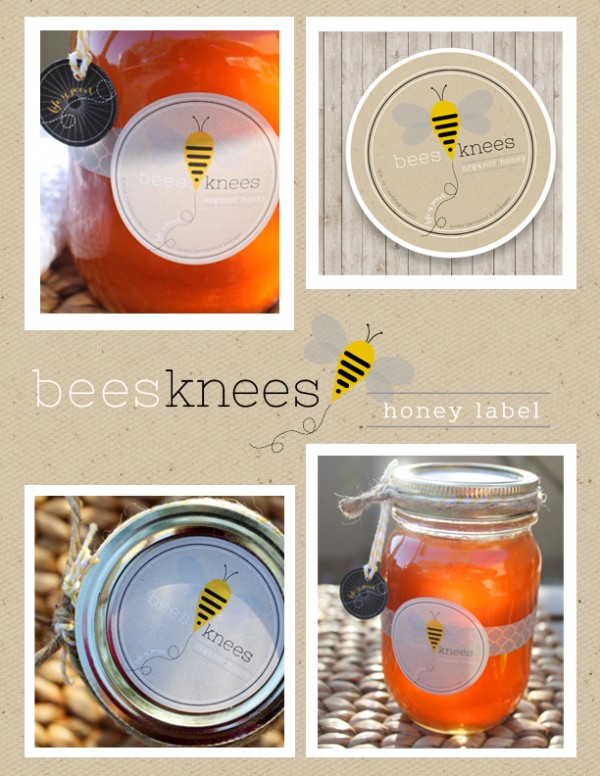bees-knees-honey-label-layout