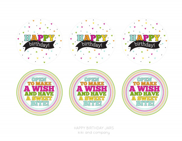 happy birthday jar printables