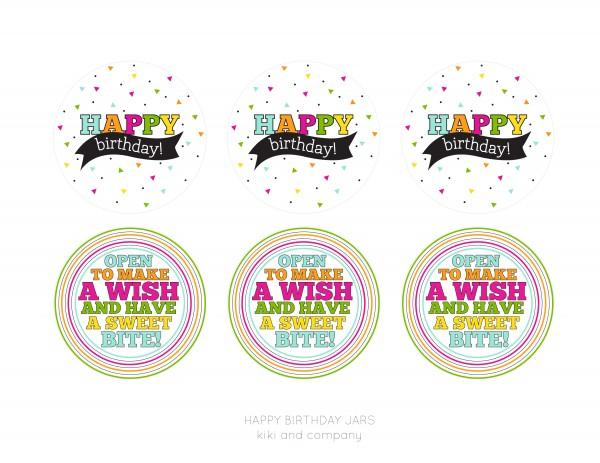 happy birthday jar printables